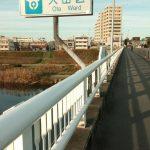 東京都に入る橋(旅の終わりを寂しく思った)