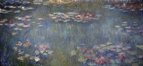 睡蓮の池、緑の反映