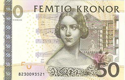 スウェーデンの紙幣に描かれるジェニー・リンド
